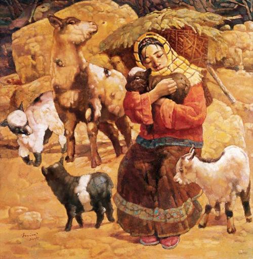 賞析:油畫中的羊