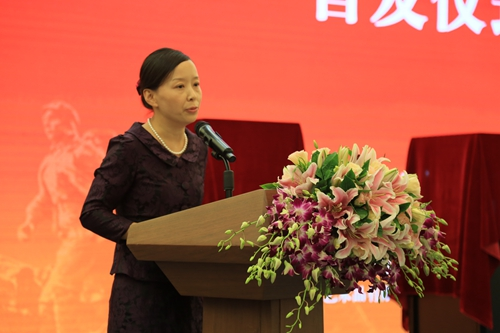中国工美集团总经理刘玉晴致辞