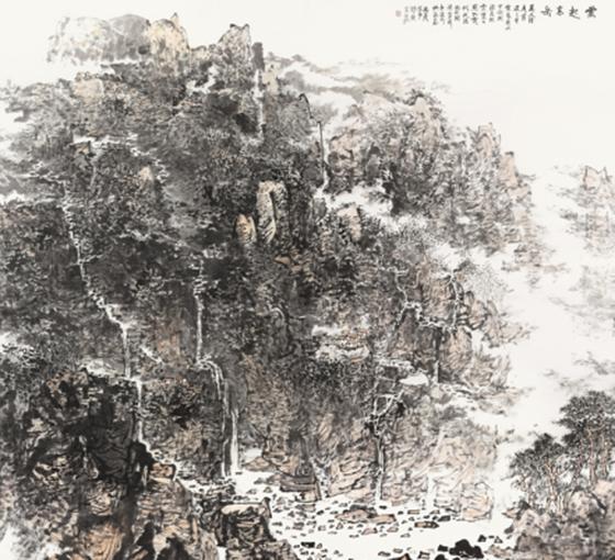 """艺术展讯-""""问道山川——周胜荣中国画展""""将在京举行"""